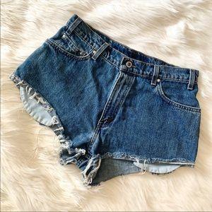 Levi's 515 Distressed Highwaisted Shorts